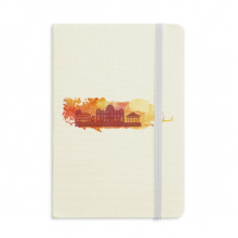 Rome Italy Yellow Watercolor Notebook Official Fabric Hard Cover Classic Journal Diary