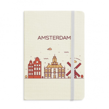 Amsterdam Flat Landmark Notebook Official Fabric Hard Cover Classic Journal Diary