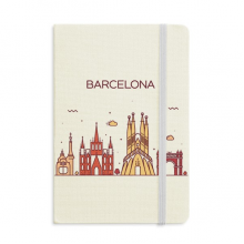 Barcelona Spain Flat Landmark Pattern Notebook Official Fabric Hard Cover Classic Journal Diary