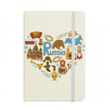 Russia Accordion Saint Basil's Cathedral Notebook Official Fabric Hard Cover Classic Journal Diary