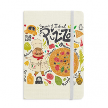 Cook Pizza Italy Tomato Foods Classic Notebooks Fabric Hard Cover Office Work Gift