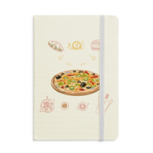 Assorted Italy Tomato Foods Pizza Classic Notebooks Fabric Hard Cover Office Work Gift