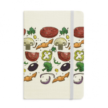 Pizza Tomato Foods Peppers Onion Classic Notebooks Fabric Hard Cover Office Work Gift