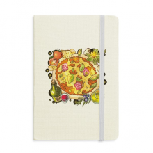 Vegetable Pizza Italy Foods Tea Classic Notebooks Fabric Hard Cover Office Work Gift