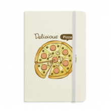 Sausage Mushroom Pizza Italy Foods Classic Notebooks Fabric Hard Cover Office Work Gift