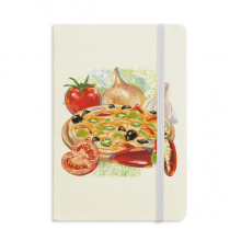 Pizza Italy Tomato Foods Garlic Classic Notebooks Fabric Hard Cover Office Work Gift