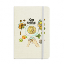 I love cooking Beaten eggs Honey Classic Notebooks Fabric Hard Cover Office Work Gift