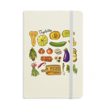 Vegetables Eggplant Pumpkin Ginger Classic Notebooks Fabric Hard Cover Office Work Gift