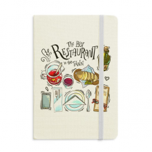 The best restaurant in the town Wins Classic Notebooks Fabric Hard Cover Office Work Gift