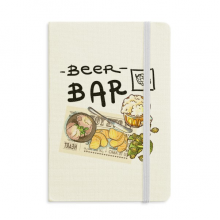 Steak Bar France Toast Beer Classic Notebooks Fabric Hard Cover Office Work Gift