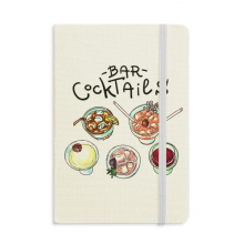Bar Cocktails Beer Red Wine Classic Notebooks Fabric Hard Cover Office Work Gift