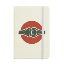 Leg Joints Human Body Illustration Classic Notebooks Fabric Hard Cover Office Work Gift