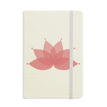 Pink Lotus Flower Plant Flower Classic Notebooks Fabric Hard Cover Office Work Gift