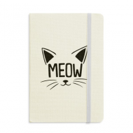 Meow Cat Head Quote DIY Design Notebook Fabric Hard Cover Classic Journal Diary A5