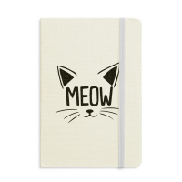 Mewing Cat Head Quote DIY Design Notebook Fabric Hard Cover Classic Journal Diary A5