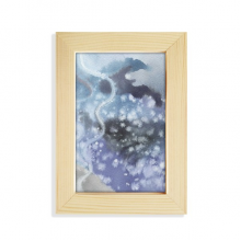Abstract Ink Watercolor Shading Desktop Wooden Photo Frame Picture Art Painting 5x7 inch