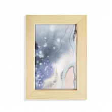 Abstract Shading Ink Watercolor Desktop Wooden Photo Frame Picture Art Painting 5x7 inch