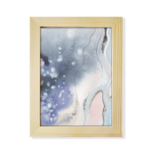 Abstract Shading Ink Watercolor Desktop Wooden Photo Frame Picture Art Painting 6x8 inch