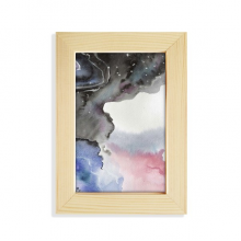 Abstract Watercolor Ink Shading Desktop Wooden Photo Frame Picture Art Painting 5x7 inch