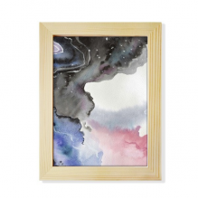 Abstract Watercolor Ink Shading Desktop Wooden Photo Frame Picture Art Painting 6x8 inch