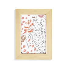 Art Abstract Plants Pattern Desktop Wooden Photo Frame Picture Art Painting 5x7 inch
