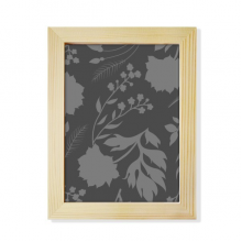 Botany Abstract Plants Art Pattern Desktop Wooden Photo Frame Picture Art Painting 6x8 inch