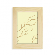 Branch Abstract Plants Art Pattern Desktop Wooden Photo Frame Picture Art Painting 5x7 inch