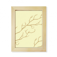 Branch Abstract Plants Art Pattern Desktop Wooden Photo Frame Picture Art Painting 6x8 inch