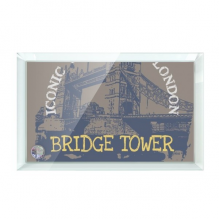 Britain UK London Bridge Tower Graffiti Desktop Crystal Art Painting Glass Artwork Decoration 7x5""