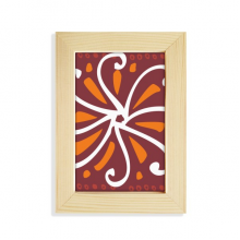 Brown Chrysanthemum Mexico Totems Civilization Desktop Wooden Photo Frame Picture Art Painting 5x7 inch