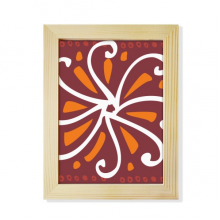 Brown Chrysanthemum Mexico Totems Civilization Desktop Wooden Photo Frame Picture Art Painting 6x8 inch