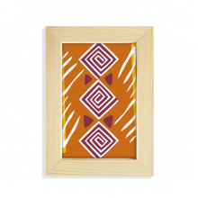 Brown Line Mexico Totems Ancient Civilization Desktop Wooden Photo Frame Picture Art Painting 5x7 inch