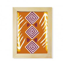 Brown Line Mexico Totems Ancient Civilization Desktop Wooden Photo Frame Picture Art Painting 6x8 inch