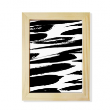 Brushwork Chinese Painting Texture Desktop Wooden Photo Frame Picture Art Painting 6x8 inch