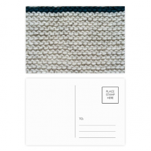 Fabric Flax Knit Gray Abstract Postcard Set Birthday Mailing Thanks Greeting Card