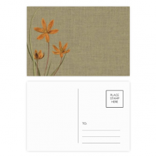 Flax orchid tradition design embroidery Postcard Set Birthday Mailing Thanks Greeting Card
