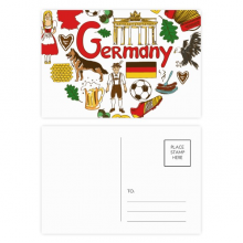 Germany Love Heart Landscap National Flag Postcard Set Birthday Mailing Thanks Greeting Card