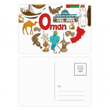 Oman Love Heart Landscap National Flag Postcard Set Birthday Mailing Thanks Greeting Card
