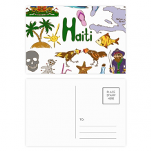 Haiti Landscap Animals National Flag Postcard Set Birthday Mailing Thanks Greeting Card