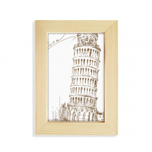 Leaning Tower of Pisa Italy Pisa Desktop Display Photo Frame Picture Art Painting 5x7 inch
