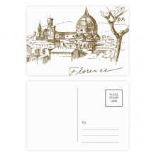 Florence Cathedral Italy Pattern Postcard Set Birthday Thanks Card Mailing Side 20pcs