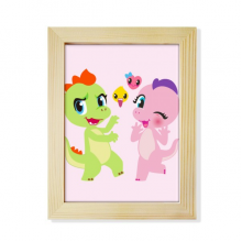 Dinosaur Kingdom Love You Desktop Wooden Photo Frame Picture Art Painting 6x8 inch