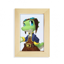Dinosaur Kingdom Love You Desktop Wooden Photo Frame Picture Art Painting 5x7 inch