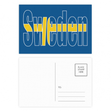 Sweden Country Flag Name Postcard Set Birthday Thanks Card Mailing Side 20pcs
