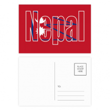 Nepal Country Flag Name Postcard Set Birthday Thanks Card Mailing Side 20pcs