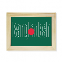 Bangladesh Country Flag Name Desktop Photo Frame Picture Art Decoration Painting 6x8 inch