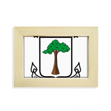 Equatorial Guinea National Emblem Desktop Decorate Photo Frame Picture Art Painting 5x7 inch