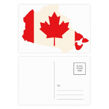 Red Maple Leaf Symbol Canada Country Flag Postcard Set Birthday Thanks Card Mailing Side 20pcs