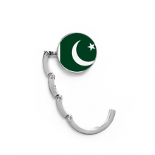 Pakistan National Flag Asia Country Table Hook Folding Bag Desk Hanger Foldable Holder