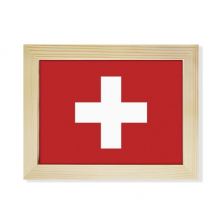 Switzerland National Flag Europe Country Desktop Photo Frame Picture Art Decoration Painting 6x8 inch